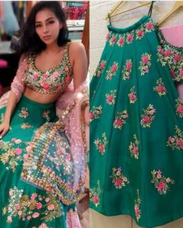 Beautiful Taffeta With Cancan Lehenga Choli With Embroidery Sequence Work And Net Dupatta