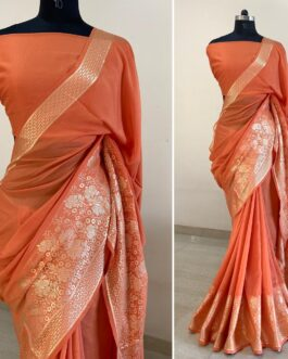 Vichitra Silk Saree With Running Blouse
